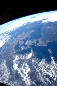 Denmark as seen from approx 400km. This photo was shot by the Danish astronaut Andreas Mogensen on his first space trip to ISS...