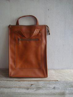 Vintage Rust Colored Handbag by VintageSilverLining on Etsy, $38.00