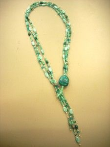 Aqua Lariat, Bead Soup and Mother's Day - Vicki O'Dell. The Creative Goddess Dyi Necklace, Necklace Tutorial, Beaded Necklace, Beaded Bracelets, Necklaces, Beaded Jewelry Designs, Necklace Designs, Jewelry Ideas, Bead Jewelry
