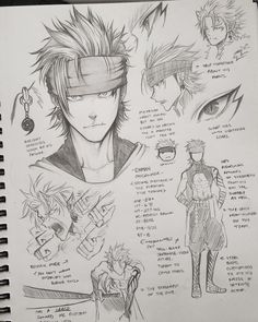 Umair - Just a guy who likes anime. April Working on a manga Anime Drawings Sketches, Anime Sketch, Cool Drawings, Character Sketches, Character Design References, Character Drawing, Manga Drawing Tutorials, Anime Oc, Guy Drawing