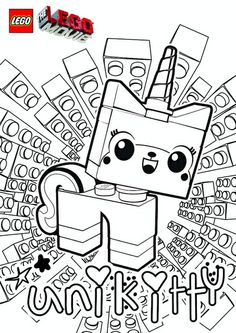 The LEGO Movie Coloring Pages - Unikitty | Lego movie, Lego and Movie