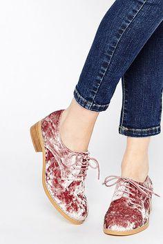 Velvet Fashion Pieces Shopping: Velvet Brogues  #velvet #fashion #shopping