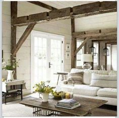 Home Interior Cocina Top 30 Farmhouse Living Room Decor Ideas Interior Cocina Top 30 Farmhouse Living Room Decor Ideas Cozy Living Rooms, My Living Room, Home And Living, Living Room Decor, Living Spaces, Living Area, Dining Room, Modern Living, Simple Living