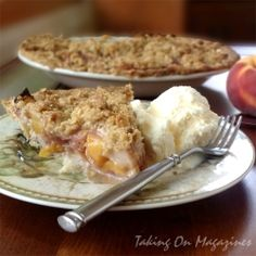 Peach Crumble Pie by TakingOnMagazines