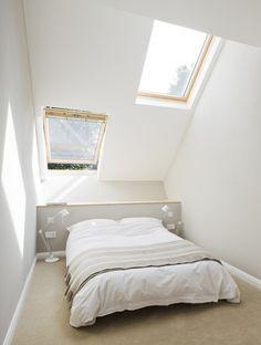 Diseño de dormitorio de casa angosta