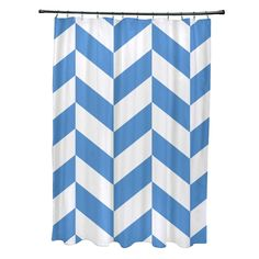 A unique and lively mixed chevron geometric pattern details this stylish shower curtain to give any bathroom decor a touch of whimsical design. This durable polyster curtain is complete with 12 top button holes for effortless hanging.