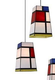 Rubics cube style MON glass pendant light from Arturo Alvarez Piet Mondrian, Bauhaus, Glass Pendant Light, Pendant Lamp, Cool Lighting, Lighting Design, Stained Glass Lamps, Decoration, Lights