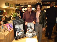 "The book launch of ""Unique Lalique Mascots"" at Waterstones book store. The author G.G. Weiner with Poppy Francis (photographer & art expert)...."