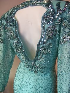 vintage gown blue gown