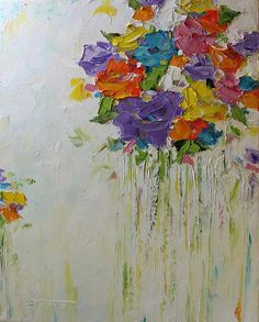 Original Abstract Painting Bouquet of Love Modern by mgotovac