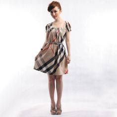 plus size Casual Dresses | outlet fashion classic plaid pattern plus size casual summer dress