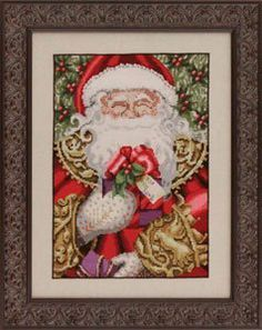 Isn't he magnificient? The latest Santa cross stitch pattern from Mirabilia is in the shop and ready to ship! The set of beads (02011, 0202...