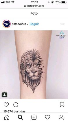 Super Tattoo Lion Minimalist Ideas - My list of best tattoo models Leo Tattoos, Mini Tattoos, Trendy Tattoos, Forearm Tattoos, Cute Tattoos, Beautiful Tattoos, Body Art Tattoos, Small Tattoos, Tattoo Thigh