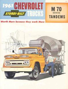 1961 Chevrolet M70 Tandem Mixer Truck