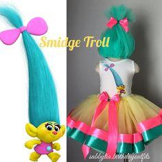 Smidge Troll tutu for Halloween or trolls party