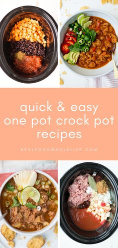 These One Pot Slow Cooker Dinner Recipes Will Save Your Busy Weeknights from Real Food Whole Life #realfoodwholeliferecipes #fallrecipes #winterrecipes #dinnerideas #crockpotdinner #fallcrockpot #wintercrockpot #slowcookerdinner #mealplanideas #glutenfreecrockpot #dairyfreedinner