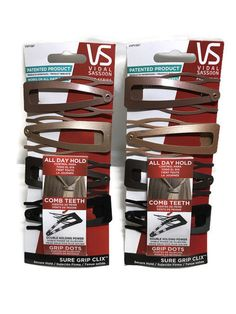 8 Count VIDAL SASSOON Pro Series Sure Grip Clix hair clips VSP11387 New Style  | eBay
