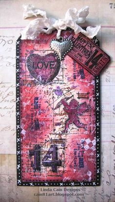 FRIENDS in ART: Valentine Tag  Gorgeous tag by Linda Cain