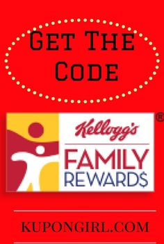 New!! Kellogg's Family Rewards 25 Point Code!  Kellogg's Family Rewards has a new code for you today! It is worth 25 points! Use this code: SCOR-EBIG-BONU-SPTS (SCOREBIGBONUSPTS) Kellogg's Family Rewards is FREE to sign up. It is a program where you can redeem points for great value coupons, free products, toys, kitchen utensils and more. Join Kellogg's Family Rewards HERE  **What do you like redeeming your points for? ** I would love to hear your replies.  (Thanks, Free...