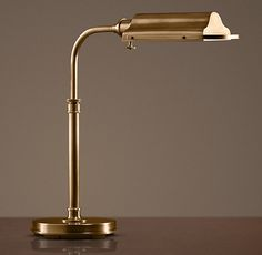 Writer's Task Table Lamp Antique Brass .. for the office