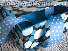 Caixa com fita - Cartonagem / Handcraft Cardboard