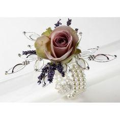 Wrist Corsage Bracelet | Vintage Beauty Corsage Bracelet - Cream - Corsage Creations