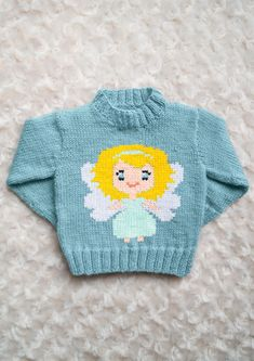 Monty the Penguin Skiing Childs Jumper Sweater Knitting Pattern