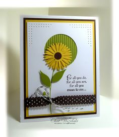 For All You Do stamp set in Lucky Limeade, Daffodil Delight, Choc Chip and WW.  Could use sentiment for Father's Day...