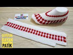 Knitting Basics: Easy women two crochet booties socks stitch tutorial handmade two skewers Knitting Basics, Knitting For Beginners, Loom Knitting, Knitting Socks, Baby Knitting, Knitted Booties, Knitted Slippers, Knitted Gloves, Knitting Designs