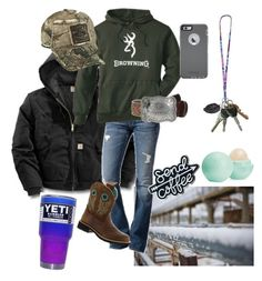 """work"" by ford-girl ❤ liked on Polyvore featuring Carhartt, 7 For All Mankind, Realtree, Ariat, Eos and OtterBox"