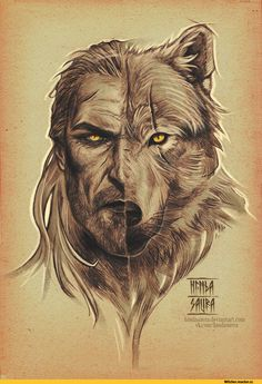 Geralt of Rivia/White Wolf (artwork by hindasavra. The Witcher Wild Hunt, The Witcher Game, The Witcher Geralt, Witcher Art, Dark Fantasy Art, Dark Art, Witcher Tattoo, Tatoo Dog, Witcher Wallpaper