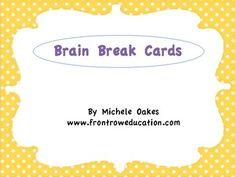 Brain cells take a break