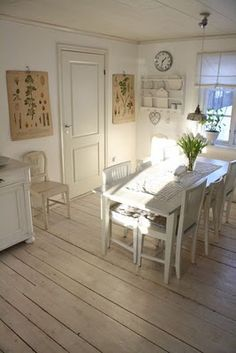 Swedish kitchen! Love the floors!!!!