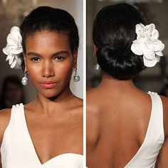 Bridal 2012: Wedding hairstyle trends with floral are a classic win win look for brides and the bridal party.
