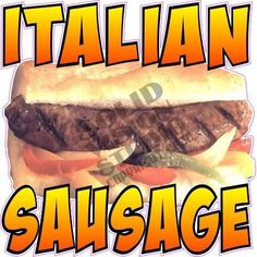 14 Italian Sausage Hot Dog Concession Trailer Truck Fast Food Vinyl Sign Decal for sale online Concession Stands, Concession Trailer, Hot Dogs, Vinyl Signs, Food Truck, Sausage, Decal, Trucks, Food Carts