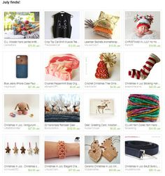my christmas tree ornaments were featured in this etsy treasury by karmasaccessories.. 09.07.2013