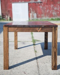 6 industrial style table solid wood stained dark walnut top with parsons table farmhouse table in dark walnut solid wood kitchen table or dining table workwithnaturefo
