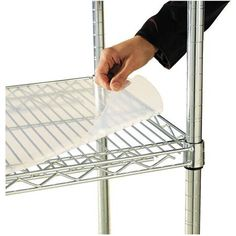 Alera Shelf Liners for Wire Shelving, Clear Plastic, 4-Pack, Available in Multiple Sizes, Gold