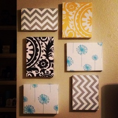 Again...nailed it! Shoe box lids covered in fabric.