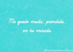 Me quedo muda, prendida en tu mirada. Floricienta Dramas, Childhood Memories, Like Me, Tv Shows, Lyrics, Husband, Quotes, Life, Inspiration