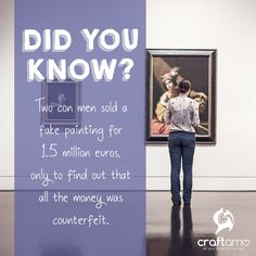 Two con men sold a fake painting for €1.5 million, only to find out that all the money was counterfeit #Craftamo #ArtFacts #Paintings
