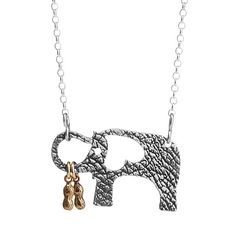 Look what I found at UncommonGoods: elephant and her little peanuts necklace... for $85 #uncommongoods
