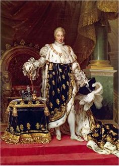 Charles X, King of France and Navarre | Jean-Baptiste Paulin Guérin | 1827 | in his coronation robes