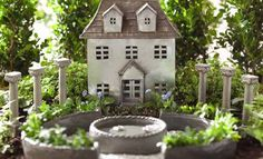 This house works in many different settings. Use it for rustic or formal gardens.