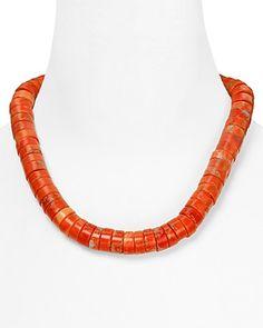 "coral jewelry bloomingdales | Michael Kors Chunky Coral Bib Necklace, 18"" | Bloomingdale's"