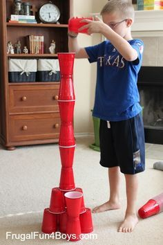 wk 5: GAME STATION Minute to Win It Style Family Games