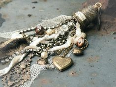 Heart Strings Thimble Kit for the Artful Gathering by rosajosies, $19.00