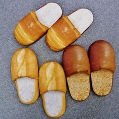 Yes - these really are Bread Slippers! Food Pillows, Cute Room Decor, Cool Things To Buy, Stuff To Buy, Recycled Crafts, Home Recipes, Cool Designs, Geek Stuff, Bread