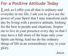 Positive Attitude. Mildred Williams