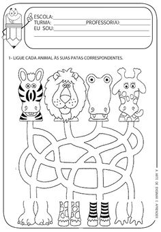 This Pin was discovered by Rôn Math Activities For Kids, Infant Activities, Kids Learning, Creation Preschool Craft, Mazes For Kids Printable, Teaching Time, Thinking Skills, Early Childhood Education, Kindergarten Worksheets